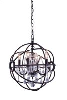 "1130 Geneva Collection Chandelier D:17"" H:19.5"" Lt:4 Dark Bronze Finish (Royal Cut Crystals) Product Image"