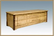 Glacier Country Log Blanket Chest