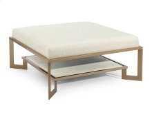 Gold Two-Tier Metal Base Ottoman