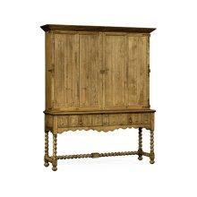 Elizabethan Style Natural Oak TV Cabinet