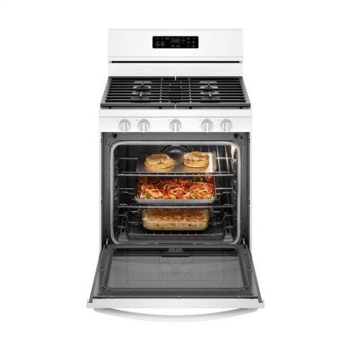 Whirlpool® 5.8 Cu. Ft. Freestanding Gas Range with Frozen Bake™ Technology - White