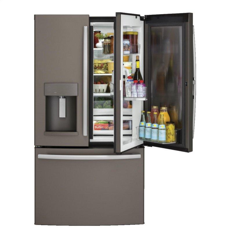 GE® 27 8 Cu  Ft  French-Door Refrigerator with Door In Door