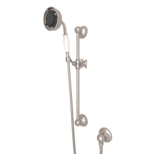 Satin Nickel Multi-Function Classic Handshower/Hose/Bar/Outlet Set