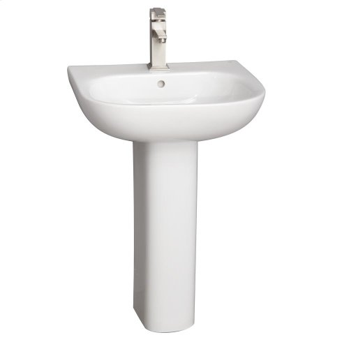 Tonique 550 Pedestal Lavatory - White