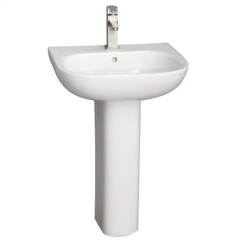Tonique 450 Pedestal Lavatory - White