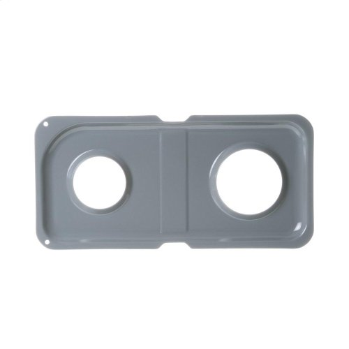 Range Double Drip Pan - Right Side; Gray