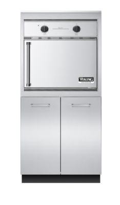 """32"""" W x 30"""" D Storage and Smoker Oven Tower"""