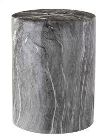 Forster Marble Garden Stool - Black