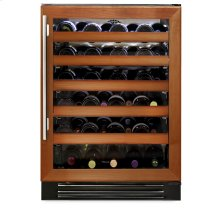 24 Inch Overlay Glass Door Wine Cabinet - Right Hinge Overlay Glass