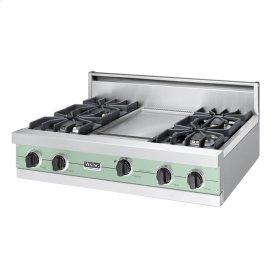 """Sage 36"""" Sealed Burner Rangetop - VGRT (36"""" wide, four burners 12"""" wide griddle/simmer plate)"""