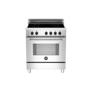 30 4-Induction Zones, Electric Self-Clean Oven Stainless -