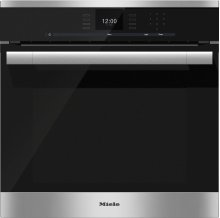 H 6560 B AM 24 Inch Convection Oven with AirClean catalyzer and Roast probe for precise cooking.