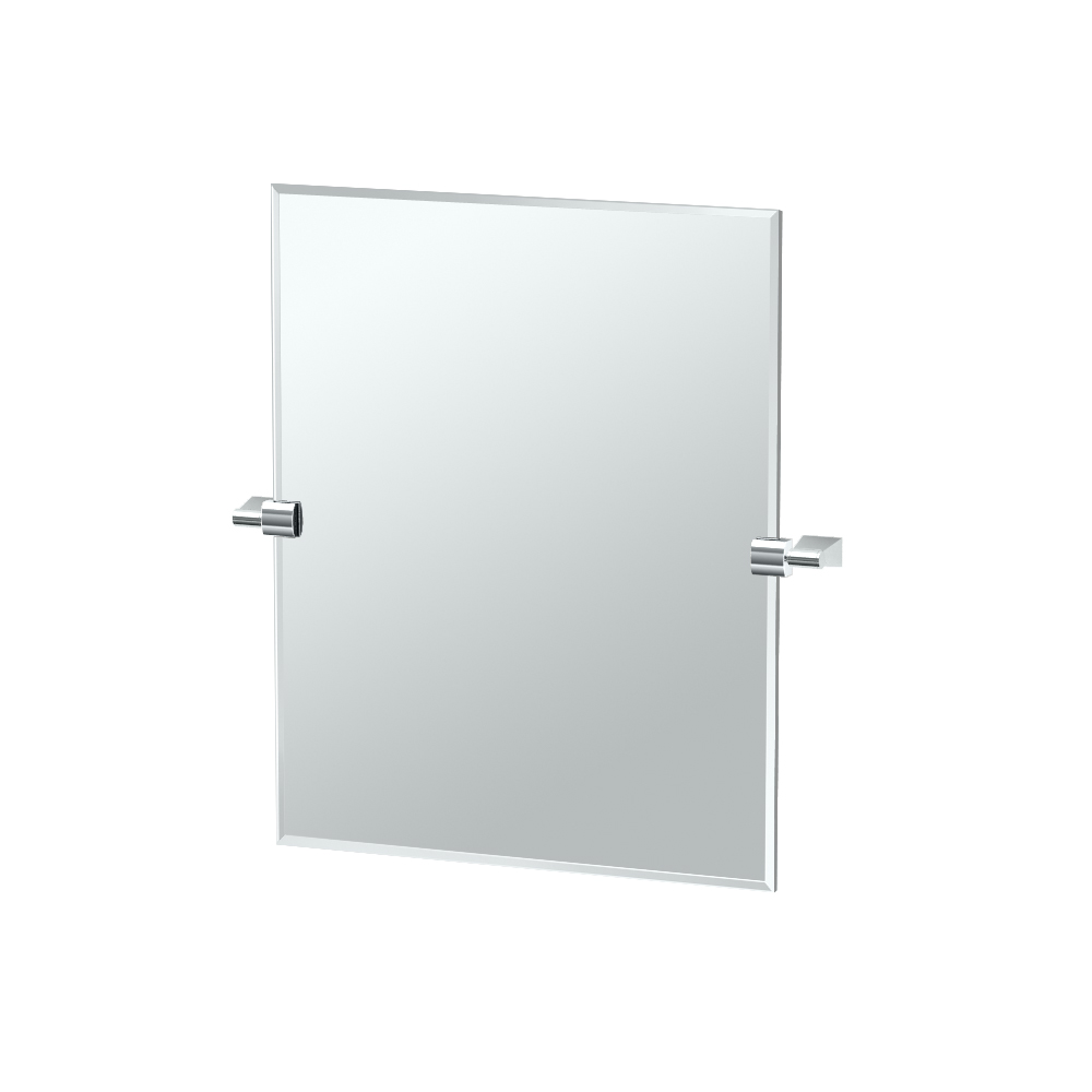 Bleu Rectangle Mirror in Chrome