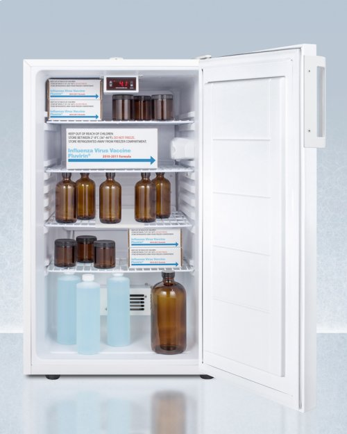 "20"" Wide Counter Height All-refrigerator for Medical Use, With Digital Thermostat, Internal Fan, Lock, Temperature Alarm, and Hospital Grade Plug; Replaces Ff510lmed"