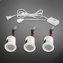MINILITE KIT 3-LIGHT,ADJ,LED - White
