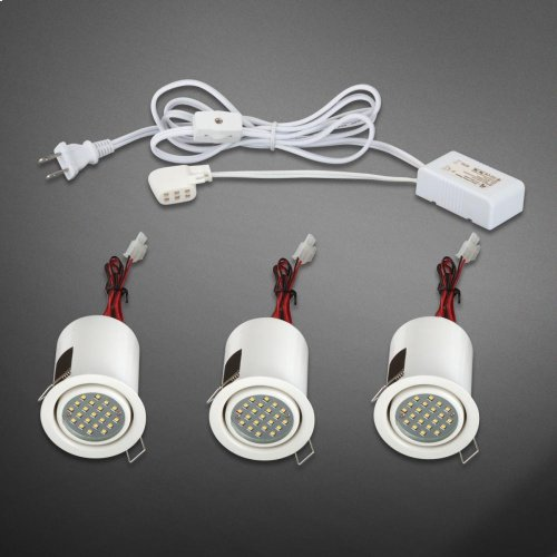 MINILITE KIT 3-LIGHT,ADJ,LED - White