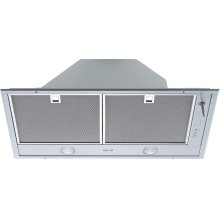 DA 2280 AM Insert ventilation hood with dimmable halogen lighting and joystick for convenient operation.