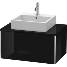 Vanity Unit For Console Wall-mounted, Black High Gloss Lacquer