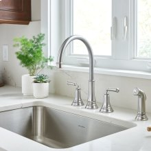 Delancy Widespread Kitchen Faucet  American Standard - Polished Chrome
