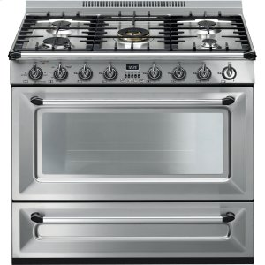 "SmegFree-standing All-Gas ""Victoria"" Range 36"" - Stainless steel"