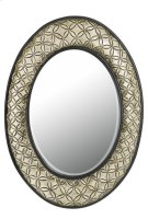 SARTENE OVAL PU FRAME MIRROR WITH BEVELED GLASS Product Image