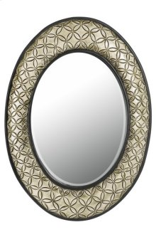 SARTENE OVAL PU FRAME MIRROR WITH BEVELED GLASS