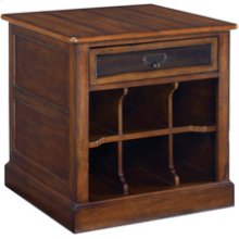 Mercantile Rectangular Storage End Table