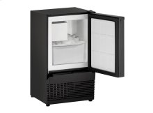 "Ada Series 14"" Crescent Ice Maker With Black Solid Finish and Field Reversible Door Swing"