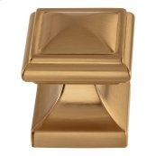 Wadsworth Knob 1 1/4 Inch - Warm Brass