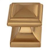 Wadsworth Knob 1 1/4 Inch - Warm Brass