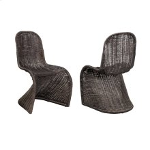 RATTAN DINING CHAIR - Set of 2