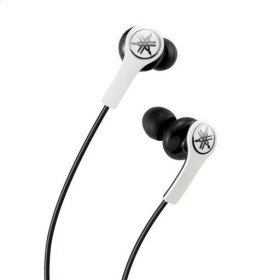 EPH-M100 White High-performance Earphones with Remote and Mic