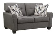 Clarkson - Loveseat Espresso W/2 Accent Pillows Product Image