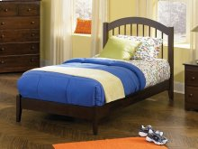 Windsor Twin Open Foot Bed Walnut