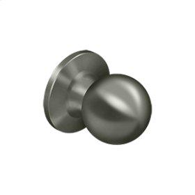 Round Knob Dummy - Antique Nickel