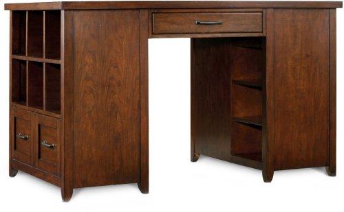 Wendover Utility Desk (One Drawer Pedestal and One Bookcase Pedestal)