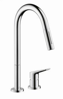 Chrome Citterio M 2-Hole Kitchen Faucet, Pull-Down