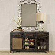 Rectangle Scroll Mirror - Distressed Gray Product Image