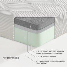 "10"" EK Twin (Twin XL) Mattress 2.5""+1.5""+6"""