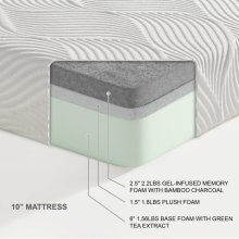"10"" EK Twin (Twin XL) Mattress 2.5""+1.5""+6"""
