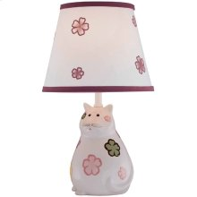 Table Lamp - Kitty Ceramic Body/fabric Shade, Cfl 13w