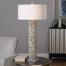 Silver Bamboo Table Lamp