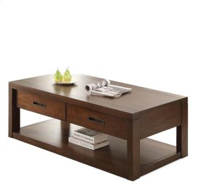 Riata Rectangular Coffee Table Warm Walnut finish