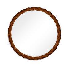 "45"" Walnut Twisted Mirror"