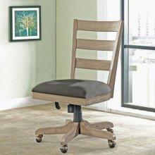 Perspectives - Wood Back Upholstered Desk Chair - Sun-drenched Acacia Finish