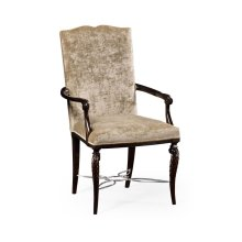 Icarus Dining Armchair, Upholstered in Calico Velvet