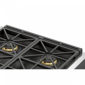 "Fulgor Milano30"" Black Cast Iron - Island Trim"