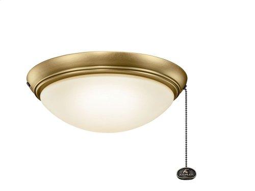 "LED Low-Profile 11.5"" Light Kit Natural Brass"