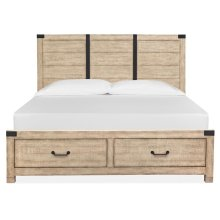 Complete Cal.King Panel Storage Bed