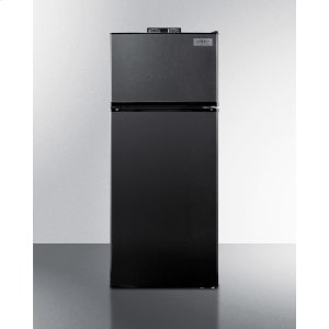 SummitFrost-free Break Room Refrigerator-freezer In Black With Nist Calibrated Alarm/thermometers